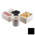 "Cambro 36CF110 - ColdFest Food Pan, 1/3 Size, 6"" Deep, Stackable, Black"