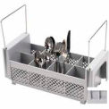 Cambro 8FB434151 - Flatware Basket, Half Size, 8 Compartments, Handles, Gray - Pkg Qty 6