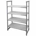 "Camshelving® Elements Starter Unit, 24""D x 60""W x 72""H, 4 Shelf, Brushed Graphite"