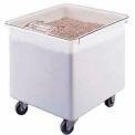 L'ingrédient cambro IB32148-Mobile Bin w/couvercle, Polyethlene, 32 gal., blanc