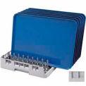 """cambro OETR314151 - Camrack ouvert fin plateau support Max 2-5/8"""". Hauteur doux gris, qté par paquet : 6"""