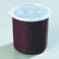 Carlisle 034101 - Poly-Tuf™ pot W/couvercle 1,2 pintes, Brown, qté par paquet : 12