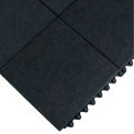 Wearwell 24/Seven Anti-Fatigue Mat - All-Purpose Grease-Resistant Rubber - Solid Tile - 3X3'