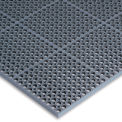 "Wearwell ® WorkSafe Light Anti-Fatigue Drainage Mat, 1/2"" Thick, 36""X60"", Black"