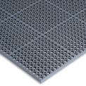 """Wearwell® WorkSafe® Light Anti Fatigue Drainage Mat 1/2"""" Épais 3' x 5' Noir"""