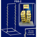 "Free Standing Snack Rack, 3 Wands, 42 Hooks, 24-1/2""H X 13-1/2""W, 15"" X 9"" Base"