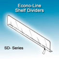 """Econo-Line Shelf Dividers, 3""""H, 17-9/16"""" Depth - Pkg Qty 100"""