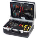 "CH Ellis Chicago Case XLST61, 2 Pocket Pallet Tool Case, 18-1/2""L x 13-1/2""W x 6-1/2""H, Black"