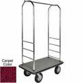 """Easy Mover Bellman chariot Chrome, tapis rouge, noir pare-chocs, pneumatique, 8"""" noir"""