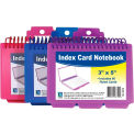 C-Line Products Spiral Bound Index Card Notebook with Tabs (Color May Vary) - Pkg Qty 8