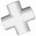 "Slip Cross Fitting, 1""Dia., Furniture Grade Pvc, White - Pkg Qty 25"