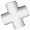 """Feuillet Cross Fitting, 1"""" diamètre, Pvc de catégorie mobilier, blanc, qté par paquet : 25"""