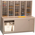 Mail Master Letter Size Workstation 7, Desert Dusk Laminate Top Medium Gray