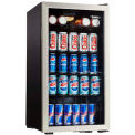 Danby® DBC120BLS - Beverage Center, 3.3 Cubic Ft, 120 Can Capacity, Temp Glass Door, Lock