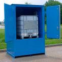 """Denios IBC Locker 8' 3"""" W x 5' 10"""" D x 8' 4 «H, bâtiment de stockage extérieur incombustibles pour 1 bac"""
