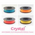 3D Stuffmaker PLA 3D Printer Crystal Filament, 1.75mm, 0.75 kg, Orange