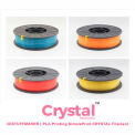 3D Stuffmaker PLA 3D Printer Crystal Filament, 1.75mm, 0.75 kg, Red
