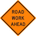 """Dicke Safety Reflective Roll-Up Sign, 36"""" x 36"""", ROAD WORK AHEAD, RUR36-200 RWA"""