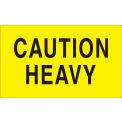 "Caution Heavy 3"" x 5"" - Bright Yellow / Black"