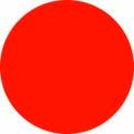 """Disques de fluorescent rouge 3/4"""" dia."""