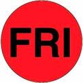 """Fri 1"""" Dia. - Fluorescent Red / Black"""