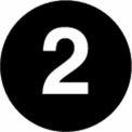 """2"""" Dia. Disc With #2 - Black / White"""