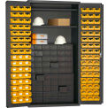 Durham Small Parts Storage Cabinet 501-DLP-60DR11-96-2S-95 - w/60 drawers, 96 Small Bins, 2 Shelves