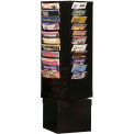 44 Pocket Rotary Literature Rack - Black