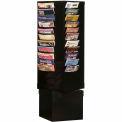 44 étagère rotative pour littérature de poche - noir