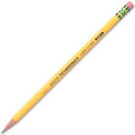 Dixon® Ticonderoga Woodcase HB #2 Pencil With Eraser, Soft, Yellow Barrel, Dozen