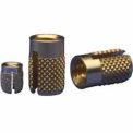 1/4-20 Flush Press Insert - Brass - 240-4-Br - Pkg Qty 25