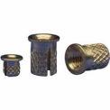 3/8-16 Flanged Press Insert - Brass - 260-6-Br - Pkg Qty 10