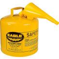 Eagle J'ai tapez sécurité Can - 5 Gallon avec entonnoir - jaune, UI-50-FSY