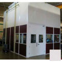 Ebtech modulaire Inplant bureau, vinyle plaqué hardboard, 8 'W x 8 's, 2 mur, classe C cote de feu, gris