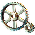 14-1/2 Pressure Angle, 6 Diametral Pitch, 60 Tooth Bushed Spur Gear