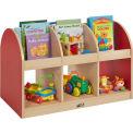 "ECR4Kids® Colorful Essentials Toddler Book Storage Island, 36""W x 20""D x 24""H, Red"
