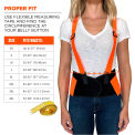 Ergodyne® ProFlex® 100 Economy Hi-Vis Back Support, Orange, 2XL