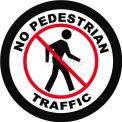 """Durastripe 24"""" Round Sign - Pedestrian Traffic"""