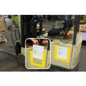 DuraStripe® DuraView Signage System, Short Side Open, Yellow Frame, 10/Pack