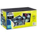 Neato® boîtiers Slim - transparent/noir, paquet de 50, qté par paquet : 3