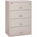 """Fireking Fireproof 4 Drawer Lateral File Cabinet Letter-Legal Size 37-1/2""""W x 22""""D x 53""""H - Lt Gray"""