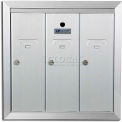 Recessed Vertical 1250 Series, 3 Door Mailbox, Anodized Aluminum, CA Post