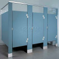 ASI Global Partitions Mid Panel to Wall/Panel to Pilaster Bracket Kit Polymer- Aluminum Stirrup