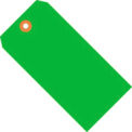 """#1 Green Fluorescent Tag Pack 2-3/4"""" x 1-3/8"""" - 1000 Pack"""