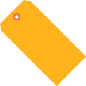 "#1 Orange Fluorescent Tag Pack 2-3/4"" x 1-3/8"" - 1000 Pack"