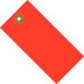 """#5 Red Tyvek Tag 4-3/4"""" x 2-3/8"""" - 100 Pack"""
