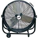 """Comfort Zone® CZMC24 Industrial Drum Fan 24"""" 2 Speeds; High Velocity"""