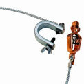 Hubbell GCSI-AC-05 Alligator Clip & C-Clamp w/ 5Ft. 7X19 Insulated Stranded Flex. Steel Cable