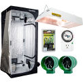 Hydrofarm LHTENT33KS Hydroponic Grow Tent Kit w/Sunburst CMh Grow Light and Ventilation Fans 3' x 3'