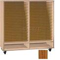 Ironwood Mfg. FS Series - 50 Open Folio Music Storage Cabinet - Dixie oak